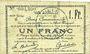 Banknoten Douai (59). Ville. Billet. 1 franc 30.8 et 15.10.1914, nlle série, B