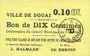 Banknoten Douai (59). Ville. Billet. 10 centimes 6.5.1915, papier jaune clair