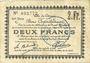Banknoten Douai (59). Ville. Billet. 2 francs 30.8 et 15.10.1914, nlle série, C