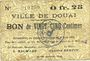 Banknoten Douai (59). Ville. Billet. 25 centimes 6.6.1915
