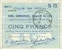 Banknoten Douai (59). Ville. Billet. 5 francs 30.8.1914, série D5