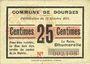 Banknoten Dourges (62). Commune. Billet. 25 centimes 18.10.1915