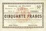 Banknoten Dourges (62). Commune. Billet. 5 francs 24.12.1915, série G