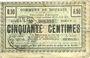 Banknoten Dourges (62). Commune. Billet. 50 centimes 15.4.1915, série PQ