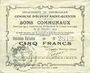 Banknoten Ecourt Saint-Quentin (62). Commune. Billet. 5 francs 20.12.1914, 2e émission