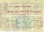Banknoten Essigny-le-Grand (02). Commune. Billet. 2 francs 5.7.1915, série 5.  N° 55 !