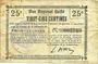 Banknoten Essigny-le-Grand (02). Commune. Billet. B.R.U., 25 centimes