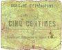 Banknoten Etréaupont (02). Commune. Billet. 5 centimes