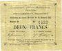 Banknoten Evin-Malmaison (62). Commune. Billet. 2 francs, émission 1915, série D