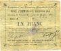 Banknoten Fampoux (62). Commune. Billet. 1 franc 18.3.1915, série A