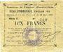 Banknoten Fampoux (62). Commune. Billet. 2 francs 18.3.1915, série C