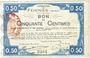 Banknoten Feignies (59). Billet. 50 centimes 29.4.1915