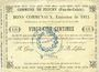 Banknoten Feuchy (62). Commune. Billet. 25 cmes 22.8.1915
