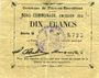Banknoten Flers-en-Escrébieux (59). Commune. Billet. 10 francs, émission 1914, série G