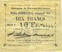 Banknoten Flers-en-Escrébieux (59). Commune. Billet. 10 francs, émission 1914, série I