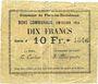 Banknoten Flers-en-Escrébieux (59). Commune. Billet. 10 francs, émission 1914, série J