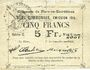 Banknoten Flers-en-Escrébieux (59). Commune. Billet. 5 francs, émission 1914, série C