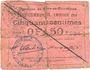 Banknoten Flers-en-Escrébieux (59). Commune. Billet. 50 centimes, emission 1914, série C, annulation manuelle