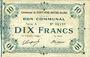 Banknoten Fontaine-Notre-Dame (59). Commune. Billet. 10 francs 16.12.1915, série A
