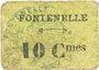 Banknoten Fontenelle (02). Billet. 10 centimes