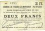 Banknoten Fresnes-les-Montauban (62). Commune. Billet. 2 francs 3.9.1915