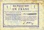 Banknoten Fresnoy-le-Grand (02). Ville. Billet. B.R.U., 1 franc