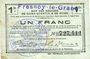 Banknoten Fresnoy-le-Grand (02). Ville. Billet. S.Q.G., 1 franc 8.8.1916
