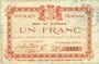Banknoten Glageon (59). Commune. Billet. 1 franc 26.11.1914, 1ère série