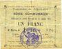 Banknoten Goeulzin (59). Commune. Billet. 1 franc du 31.1.1915, 4e série A