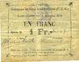 Banknoten Gouy-sous-Bellonne (62). Commune. Billet. 1 franc, émission 1914, série O