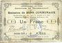 Banknoten Gouzeaucourt (59). Commune. Billet. 1 franc du 21.1.1915, 2e série