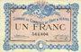 Banknoten Gray et Vesoul (70). Chambre de Commerce. Billet. 1 franc 4.10.1915, sans le nom de l'imprimeur