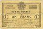 Banknoten Halluin (59). Ville. Billet. 1 franc 27 8bre 1914, sans numérotation