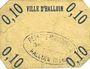 Banknoten Halluin (59). Ville. Billet. 10 centimes