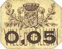 Banknoten Halluin (59). Ville. Billet. 5 centimes