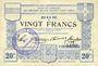 Banknoten Ham, Noyon & Saint-Simon (80). Union des Communes. Billet. 20 francs