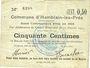 Banknoten Hamblain-les-Prés (62). Commune. Billet. 50 centimes, émis en 1914