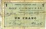 Banknoten Haynecourt (59). Commune. Billet. 1 franc 29.8.1915