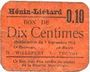 Banknoten Hénin-Liétard (62). Ville. Billet. 10 centimes 7.9.1915, carton orange