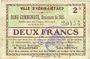 Banknoten Hénin-Liétard (62). Ville. Billet. 2 francs, émission 1915, 16.6.1915