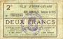 Banknoten Hénin-Liétard (62). Ville. Billet. 2 francs, émission 1915, 24.12.1914