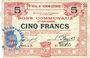 Banknoten Hénin-Liétard (62). Ville. Billet. 5 francs 6.3.1916, série A