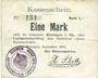 Banknoten Hirsingue (68). Commune. Billet. 1 mark sept 1914. Signature manuscrite du maire H. Schott