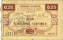 Banknoten Houdain (Houdain-les-Bavay) (59). Pour les Maires des Communes adhérentes. Billet. 25 cmes, série 2