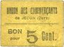 Banknoten Jegun (32). Union des Commerçants. Billet. 5 centimes