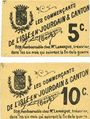 Banknoten L'Isle-en-Jourdain & Canton (32). Les commerçants. Billets. 5 centimes, 10 centimes