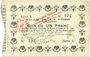 Banknoten La Fère (02). Ville. Billet. 1 franc 30.11.1914, série L