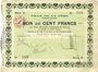 Banknoten La Fère (02). Ville. Billet. 100 francs 30.11.1914, série A