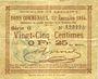 Banknoten Lallaing (59). Commune. Billet. 25 centimes 13.11.1914, 15e émission 1915, série G