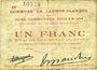 Banknoten Lauwin-Planque (59). Commune. Billet. 1 franc 1914